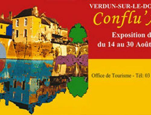 Conflu'Art à Verdun sur le Doubs(71) du 14 au 30 août 2018